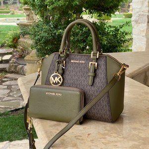 NWT Michael Kors md signature messenger bag&wallet